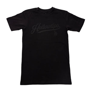 Series Tee Black on black