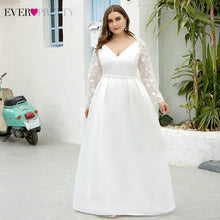 Laden Sie das Bild in den Galerie-Viewer, Plus Size White Brautkleider Ever Pretty