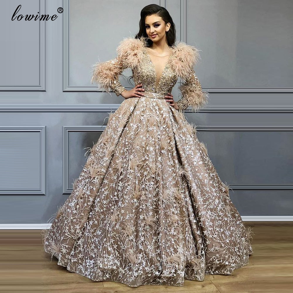 Plus Size Middle East Lace Prom Dress 2021 new