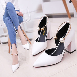 Perlen High Heels