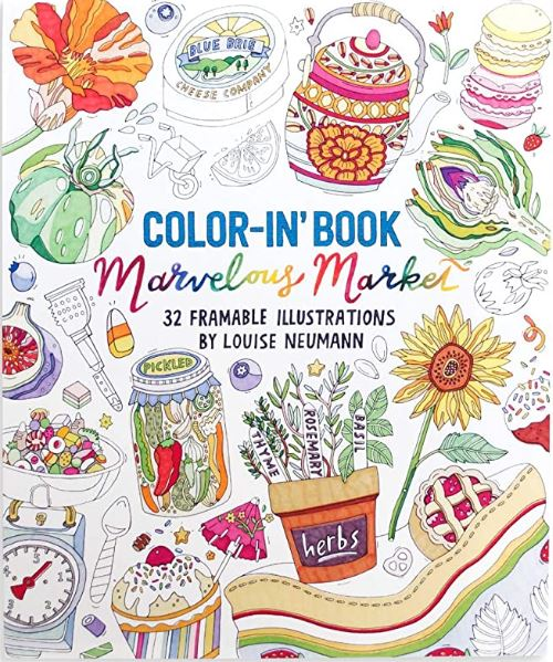 Color-In' Book - Marvelous Market