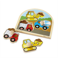 Melissa & Doug Construction Large Peg Puzzle