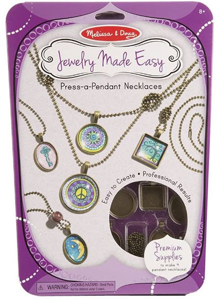 Melissa & Doug Jewelry Made Easy Press-a-Pendant Necklace-Making Set