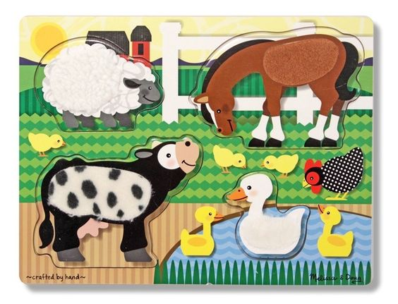 Melissa & Doug Farm Touch & Feel Puzzle