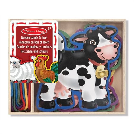 Melissa & Doug Lace & Trace Activity Set (Farm)