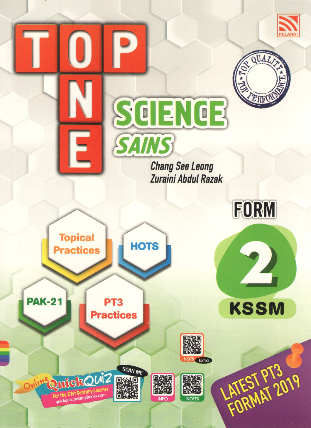 Pelangi 2021: Top One Sains / Science Dwibahasa Tingkatan / Form 2