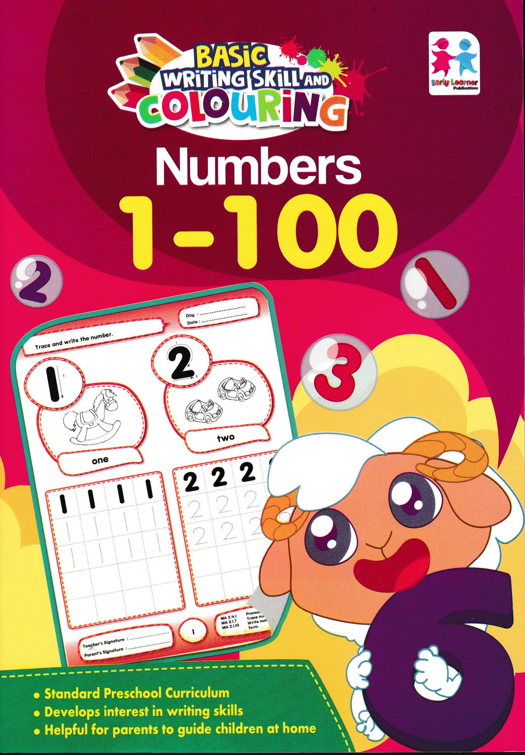 EarlyLearner: Basic Writing Skill And Colouring: Numbers 1 - 100