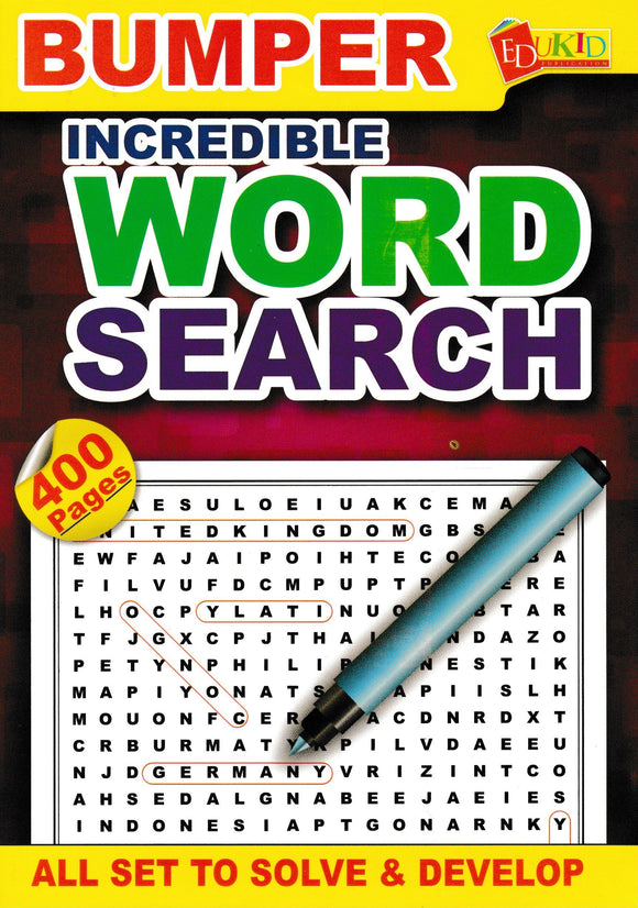 Bumper Incredible Word Search