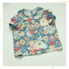 fleur + dot peter pan collar blouse for girls