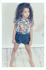 floral cotton girls shirt