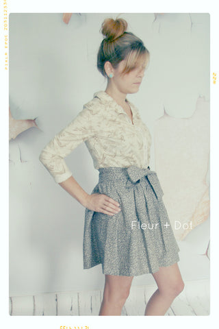 Static Extra Full Skirt with Sash | WOMENS Small | Sample Sale