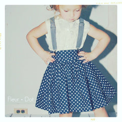 fleur + dot brother suspenders in retro fit. Slow fashion made in the USA.