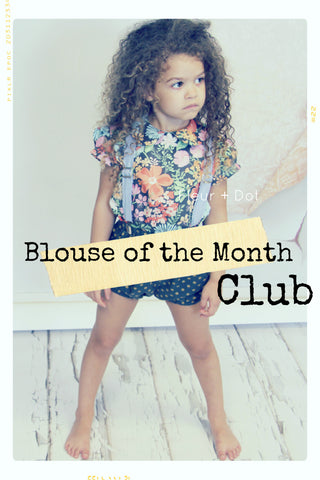 Blouse of the Month CLUB | Exclusive Seasonal Cotton Shirts for Girls
