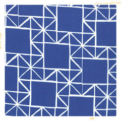 blue modern print cotton with white linear lines