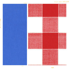 Red white and blue cotton for fleur + dot.