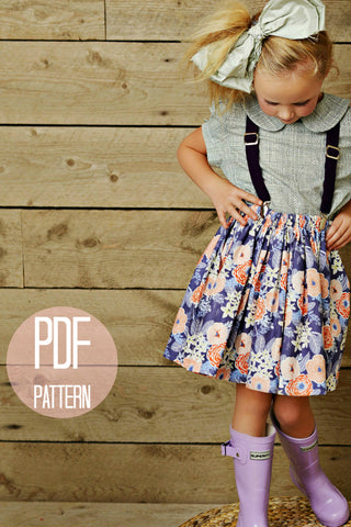 The Extra Full Skirt and Sash | Downloadable Sewing Pattern