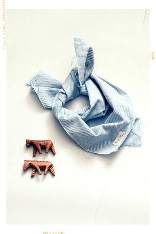 The Blue Stripe Asymmetrical Bandana. Limited Edition.