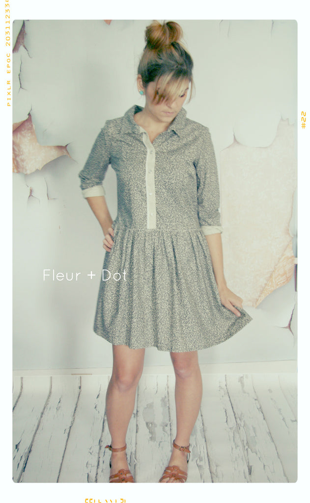 The Static Collared Shirtdress | WOMEN'S Small | Sample Sale