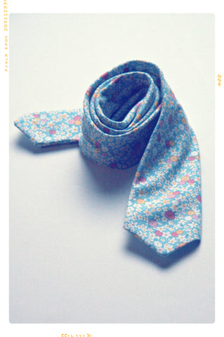 LITTLE BLUE | Boys' Cotton Slim Fit Necktie