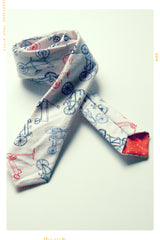 Ride a Bike Slim Fit Necktie. Limited Edition.