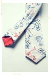 RIDE A BIKE | Boys' Cotton Slim Fit Necktie
