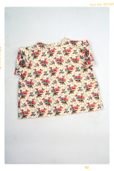 Summer Wild Girls Blouse: Floral cotton print shirt for girls in vintage inspired style. Handmade and slow fashion by Fleur + Dot. Made in the USA.