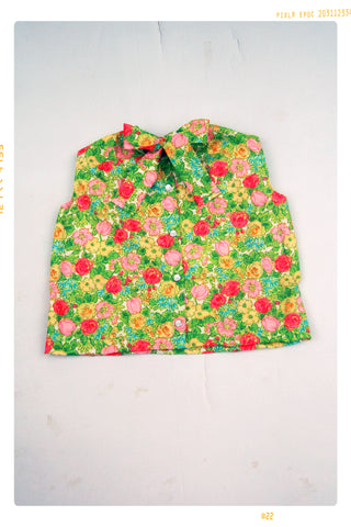 The Floral Pop Bow Blouse