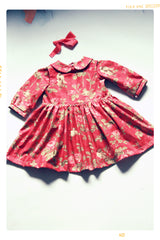 girls christmas floral peter pan collar blouse