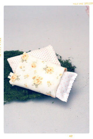 Yellow Vintage Floral and Pink Dot Pillow Set