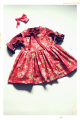 girls christmas blouse in vintage inspired red dot fleur + dot