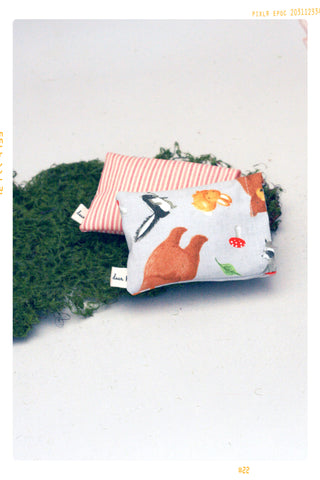 Woodland and Pink Stripe Pillow Set