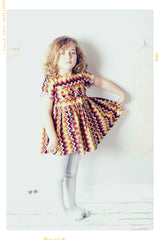 southwestern stripe vintage inspired girls bow dress by Fleur + Dot