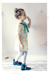 Girls cotton apparel made in the USA Fleur + Dot Floral Shift Dress