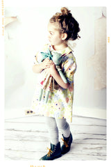 peter pan collar girls cotton dress. vintage inspired. handmade in the USA. Fleur and Dot