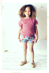 Cotton rose print girls shorts. Bubble shorts. Bloomers. Vintage and modern. Hand made in the USA.