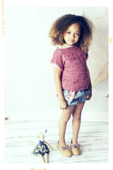 Vintage rose girls shorts for spring summer. Fleur and Dot handmade childhoods.