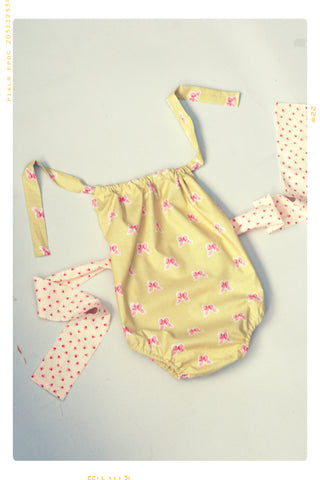 The Tied in a Bow Romper. Limited Edition
