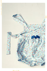The Seaside Apron Front Bubble Romper