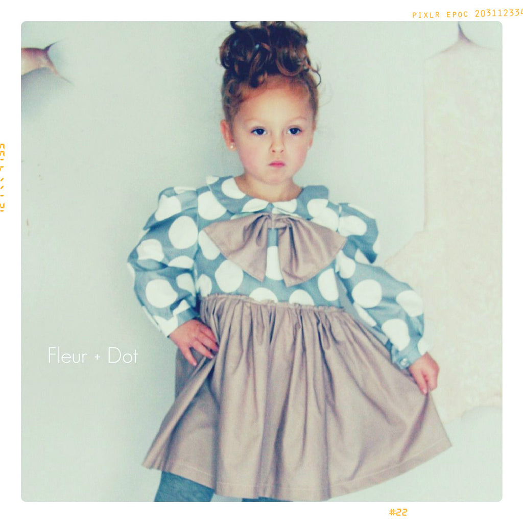MY PETITE DOT | Girls' Bow Party Dress in Polka Dot Cotton