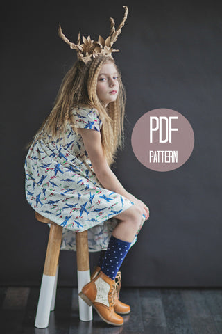 The Peter Pan Collar Dress with Extra Full Skirt | Downloadable Sewing Pattern