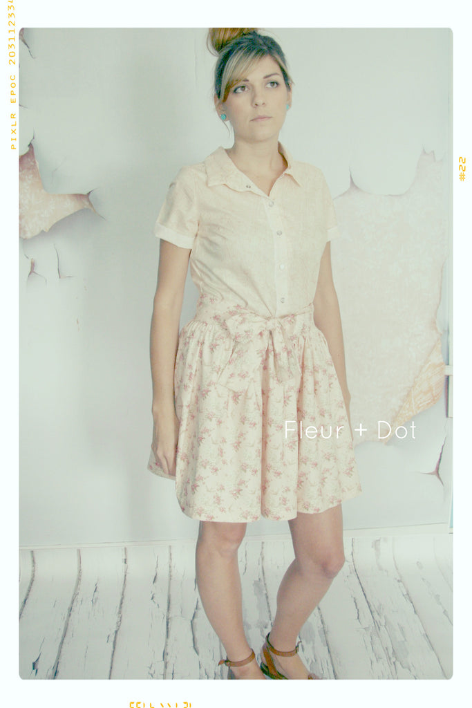 English Tea Rose Extra Full Skirt with Sash | WOMENS Small | Sample Sale