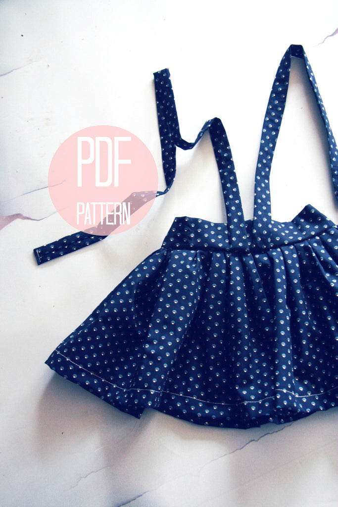 The High Waist Suspender Skirt | Downloadable Sewing Pattern
