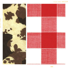 red and white check gingham cotton with cow print for fleur and ddot