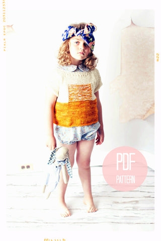 The Sunrise Knit Pullover Sweater | Downloadable Knitting Pattern