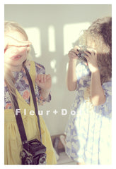 handmade girls vintage style top in floral cotton by Fleur and Dot