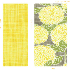 bright sun yellow floral print cotton for fleur and dot