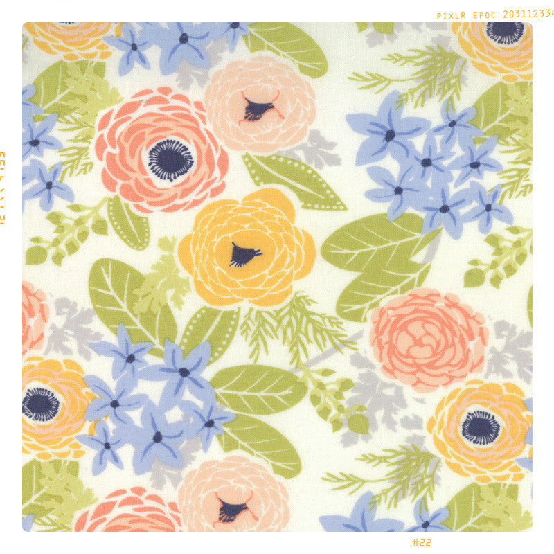 SPRING GARDEN | Cotton Fabric by the Yard