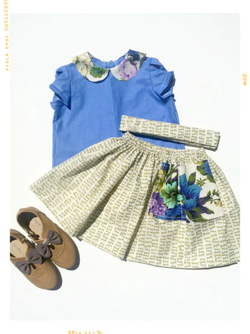 A Kite's Tail Uno Pocket Skirt and Sash. Vintage. Limited Edition. | 4T | Sample Sale