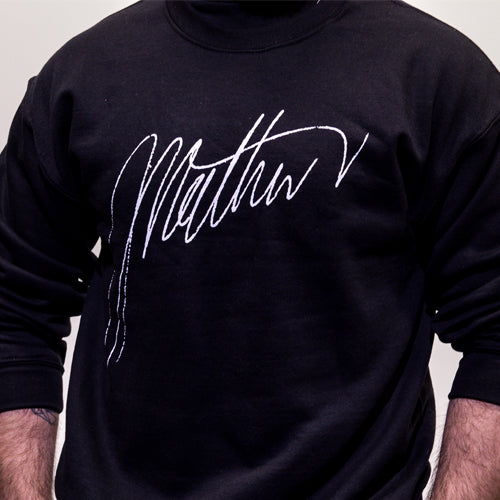 Black Signature Crew New Sweater