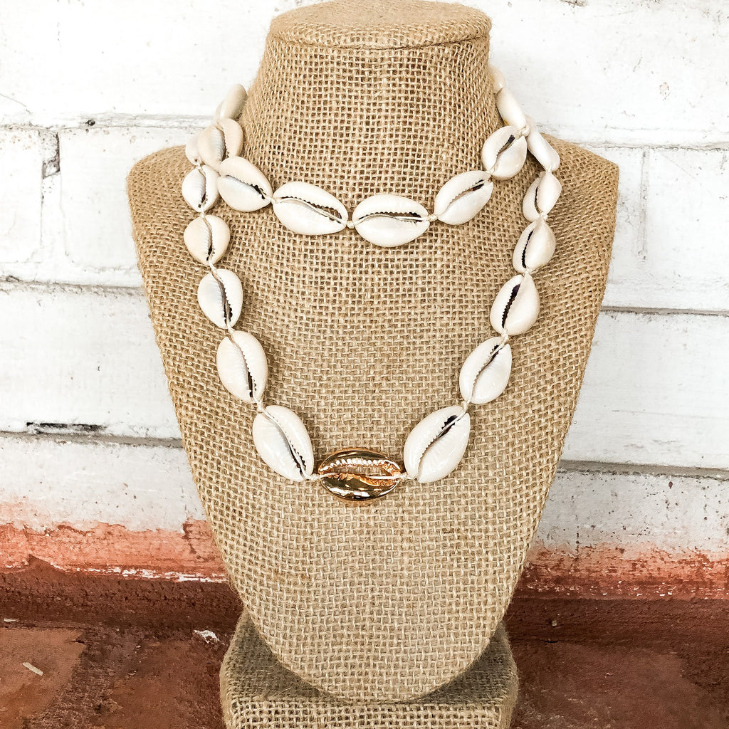 Natural Shell Choker Necklace